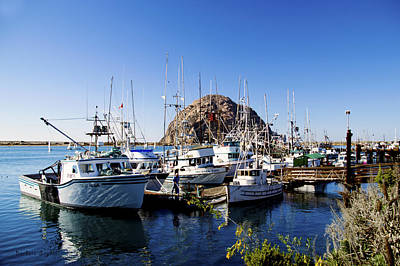 Working Dock At Morro Bay Print by Barbara Snyder