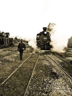 Brakeman Photograph - Working For The Railroad by Robert Frederick