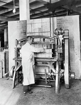 Building Factory Work Vintage Photograph - Workplace With A View by Underwood Archives