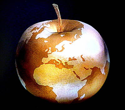 World Apple Print by The Creative Minds Art and Photography