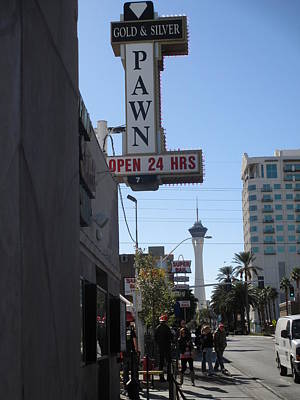 World Famous Gold And Silver Pawn Shop Print by Kay Novy