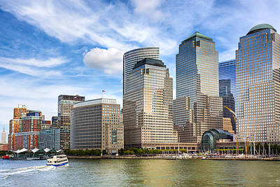 World Financial Center And The Manhattan Waterfront Print by Mark E Tisdale