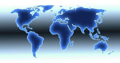 World Map Illustration Print by Alfred Pasieka