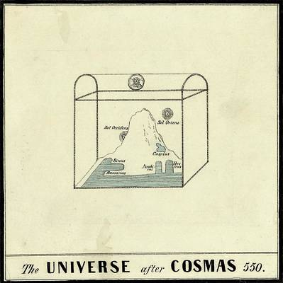 Maps Photograph - World Map Of Cosmas by Library Of Congress, Geography And Map Division