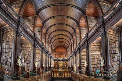 Trinity Photograph - World Of Books by Evelina Kremsdorf
