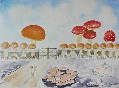 World Of Mushroom  Print by Geeta Biswas