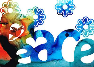 World Peace 3 - Loving Art Print by Sharon Cummings