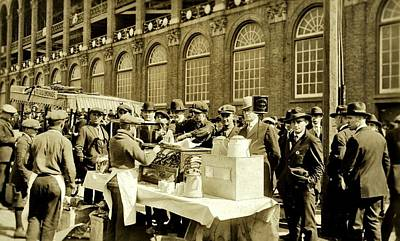 Ebbets Field Photograph - World Series 1920 by Benjamin Yeager
