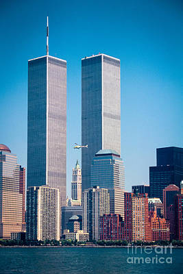 Trace Photograph - World Trade Center by Inge Johnsson