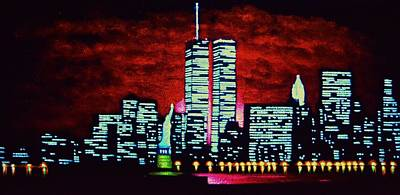 Sunsert Painting - World Trade Center  Sold by Thomas Kolendra
