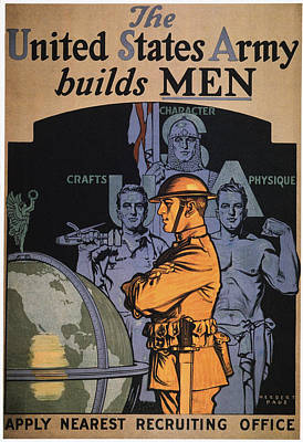 U.s Army Painting - World War I Army Poster by Granger