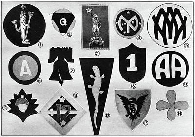 Badge Painting - World War I Badges by Granger