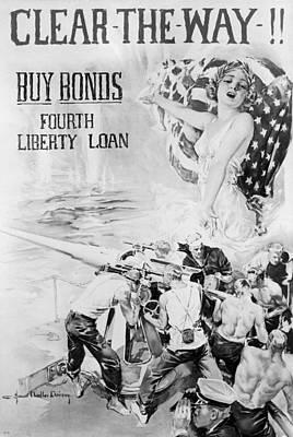 Liberty Painting - World War I Liberty Loan, C1917 by Granger