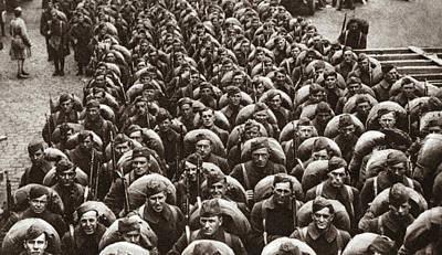 World War I Return Home Print by Granger
