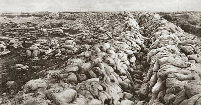 World War I Sand Bags Print by Granger