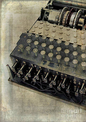 World War II Enigma Secret Code Machine Print by Edward Fielding