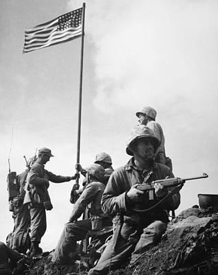 World War II: Iwo Jima Print by Granger