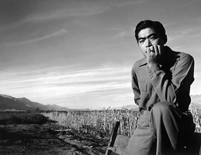 Japanese Chin Photograph - World War II, Tom Kobayashi, Landscape by Everett