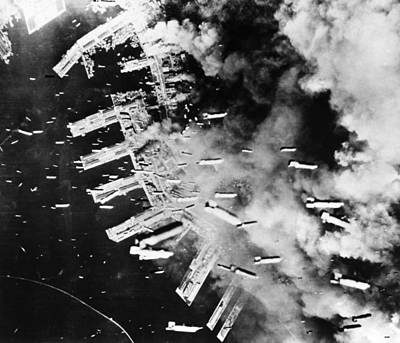 World War II: U.s. Air Raid Print by Granger