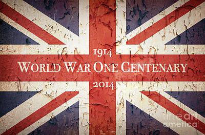Ww1 Photograph - World War One Centenary Union Jack by Jane Rix