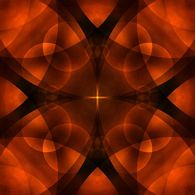 Circles Digital Art - Worlds Collide 16 by Mike McGlothlen