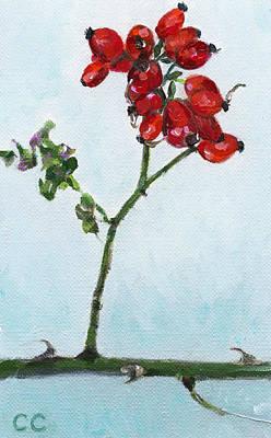 Pruning Painting - Worplesdon Rosehips by Catherine Considine