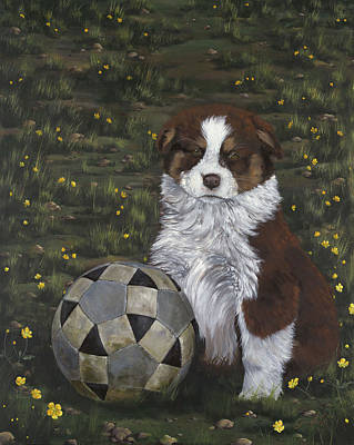 Steer Painting - Worthy Opponent by Gilda Goodwin