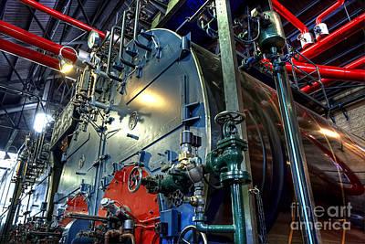 Woudagemaal Steam. Print by Jan Brons