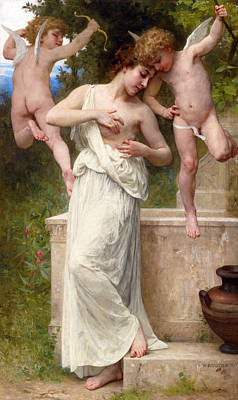 William-adolphe Bouguereau Painting - Wounds Of Love by William-Adolphe Bouguereau