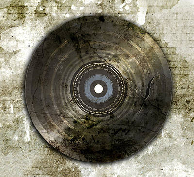 Wrecked And Old Vinyl Record Print by Ratchapon Yanyongdecha