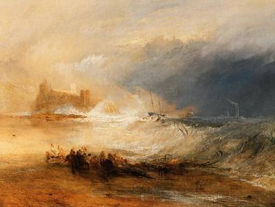 Northumberland Painting - Wreckers Off The Coast Of Northumberland by J M W Turner