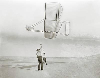 Aeronautics Photograph - Wright Brothers Kitty Hawk Glider by Library Of Congress