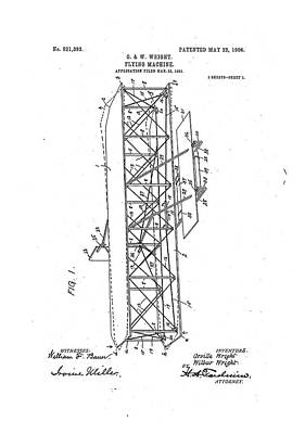 Wright Flyer Patent Print by Us National Archives