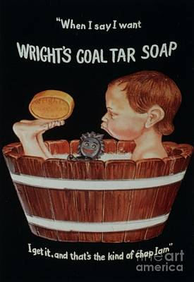 Wright�s Coal Tar 1920s Uk Baths Print by The Advertising Archives