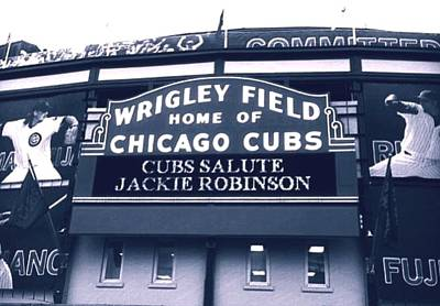 Cdkirven Mixed Media - Wrigley Field by CD Kirven