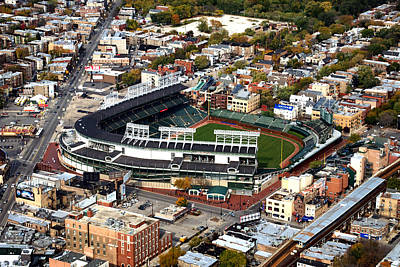 Wrigley Field Chicago Sports 01 Print by Thomas Woolworth
