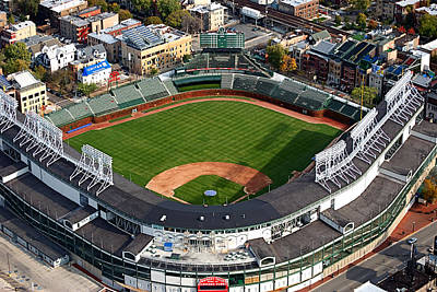 Wrigley Field Chicago Sports 03 Print by Thomas Woolworth