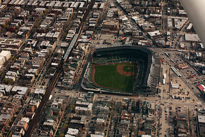 Wrigley Field From The Air Print by Anthony Doudt