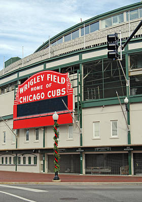 Wrigley Field Print by Skip Willits