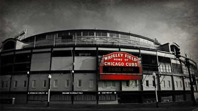 Black And White Photograph - Wrigley Field by Stephen Stookey