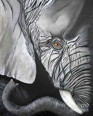 Painting - Wrinkles by A Wells Artworks