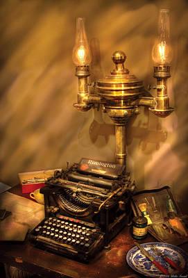 Writer - Remington Typewriter Print by Mike Savad