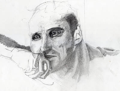 Tarkovsky Drawing - Writer - Stalker by Oszkar Nagy