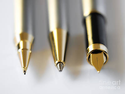 Technical Photograph - Writing Instruments by Sinisa Botas