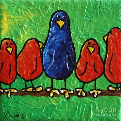 Yellow Beak Painting - Wrong Limb by LimbBirds Whimsical Birds