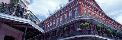 Ornamental Plant Photograph - Wrought Iron Balcony New Orleans La Usa by Panoramic Images