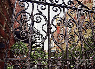 Indiana Photograph - Wrought Iron Garden Patio by Amy Lucid