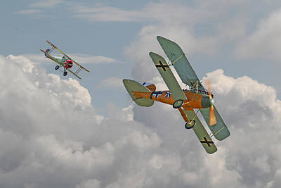 Fokker Digital Art - Ww1 - Fighting Colours by Pat Speirs