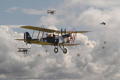 Fokker Digital Art - Ww1 Re8 Aircraft by Pat Speirs