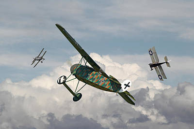 Fokker Digital Art - Ww1 - Spoiled For Choice by Pat Speirs
